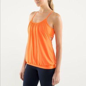 Lululemon No Limits tank, bright orange